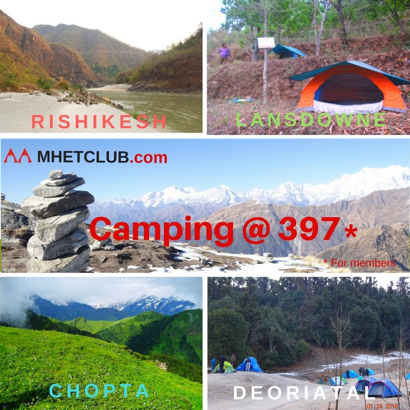 Camping in just 397 - Rishikesh - Lansdowne - Chopta - Deoriatal